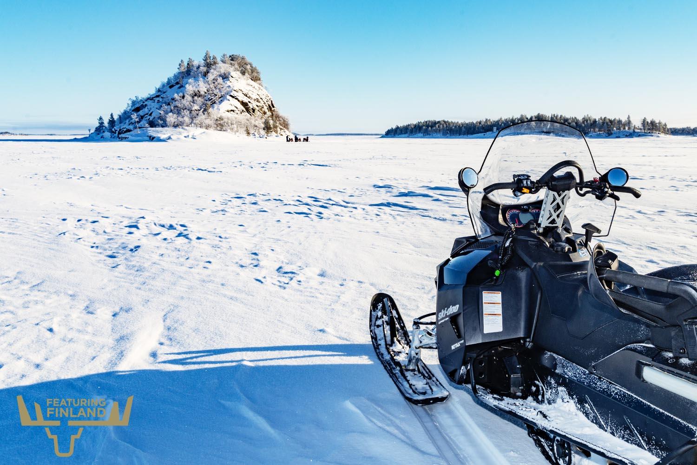 snow mobile lapland