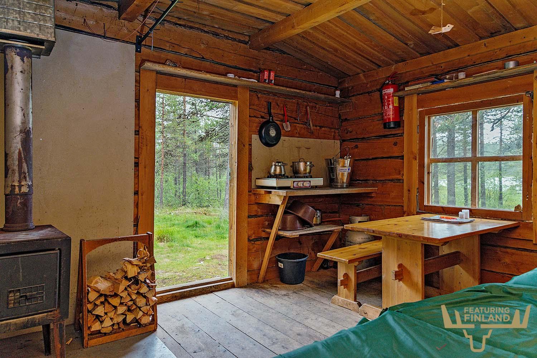 wilderness cabin finland